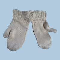 Hand Knit Victorian  Baby or Doll Mittens