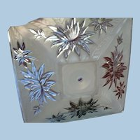 1950s Glass Ceiling Fixture