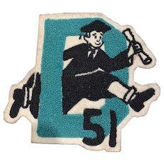 1951 Graduation Chenille Patch