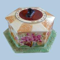 Sundial Floral English Ceramic Box
