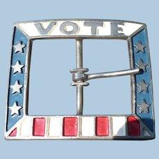VOTE Belt Buckle