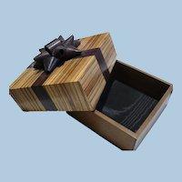 Handmade Artisan Wooden Bow Box