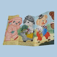 1950's Children's Handkerchief Set  in Card