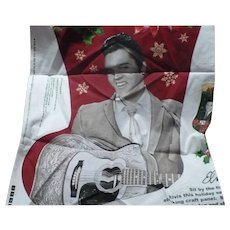 Elvis DIY Print Xmas Stocking