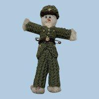Little Knit Army Man