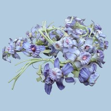 Six Bunches  Purple Artificial Flowers