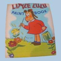 Little Lulu Kleenex Coloring Book