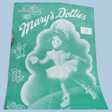 Mary's Dollies Knit Doll Clothes 1941