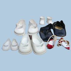 Six Pair Assorted Doll Shoes