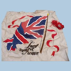 Union Jack British Flag Embroidery Piece