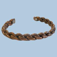 Large Copper Braid Bracelet