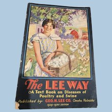1929-30  The Lee Way booklet, Diseases of Poultry & Swine