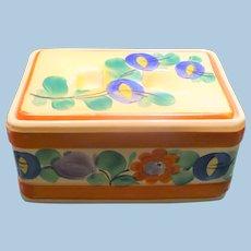 Czech pottery Lidded Box