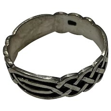 Celtic Knot Sterling Band Ring