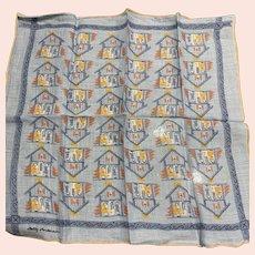 Betty Anderson Little Houses Little People Handkerchief