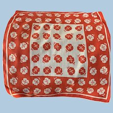 Unusual Initial  N Handkerchief