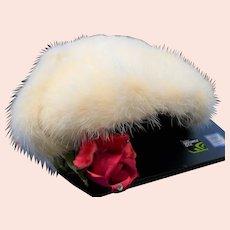 White Mink Ladies Hat