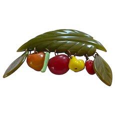 Bakelite Fruit Pin