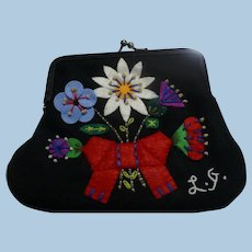 Lulu Guinness Small Felt Flower Purse
