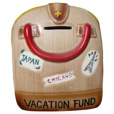 Ceramic Satchel Suitcase Vacation Bank
