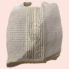 Victorian Hand Crochet Long Baby Bib
