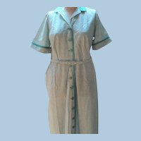 Gingham Dress 1950's Nelly Don