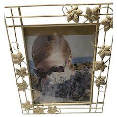 Metal Tole Frame Leaves