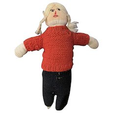 Hand Made Knit Sock Doll