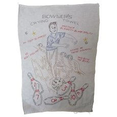 Embroidered Bowlers Crying Towel
