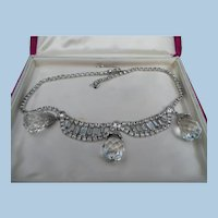 Deltah Rhinestone Crystal Necklace with Box
