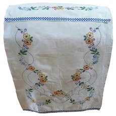 Hand Embroidered Over Towel