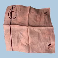 Musical Treble  Clef Handkerchief