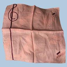 Musical Treble  Clef Handkerchief