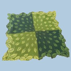 Green Leaf Handkerchief
