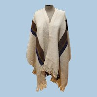 Churchill Weavers Wool Poncho