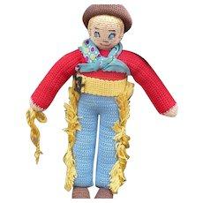 Knit Cowboy Doll