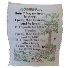 Hand Embroidered Lords Prayer