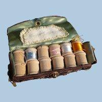 Vintage Wooden Spools Sewing Kit