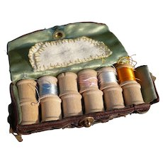 Vintage Wooden Spools Sewing Kit