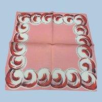 Pink Swirls Handkerchief