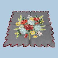 Bright Floral Bouquet Handkerchief