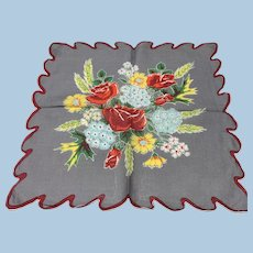 Bright Floral Bouquet Handkerchief