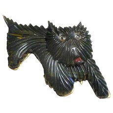 Three DImensinal Bakelite Dog Pin