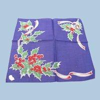 Xmas Holly Handkerchief