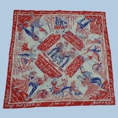 Cotton Kerchief Bandanna Square Dancing