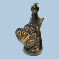1950s Ceramic Heart Lamp