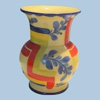 Colorful Czech Pottery Vase