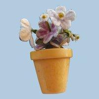 Bakelite Flowerpot Pin