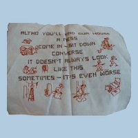 Unusual Welcome Embroidered Motto