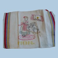 Hand Embroidered Monday Washing Towel